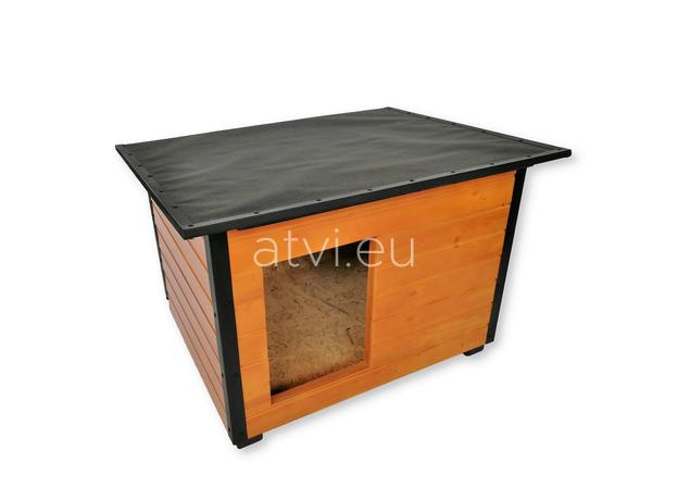 AtviPets Insulated Dog House With Folding Roof Bituminous Cardboard Size 3, image , 3 image