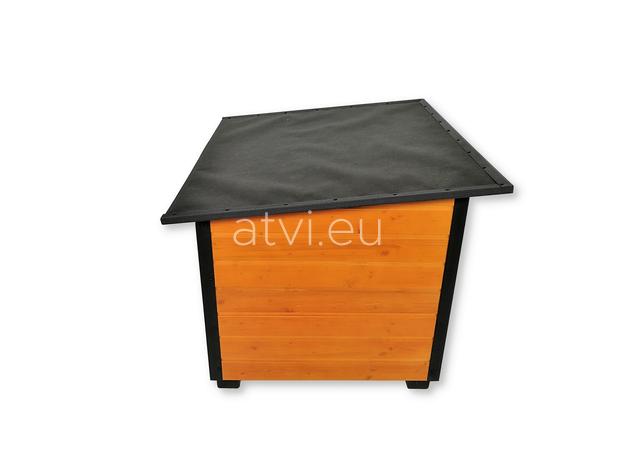 AtviPets Insulated Dog House With Folding Roof Bituminous Cardboard Size 3, image , 4 image