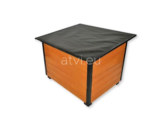 AtviPets Insulated Dog House With Folding Roof Bituminous Cardboard Size 3, image , 5 image