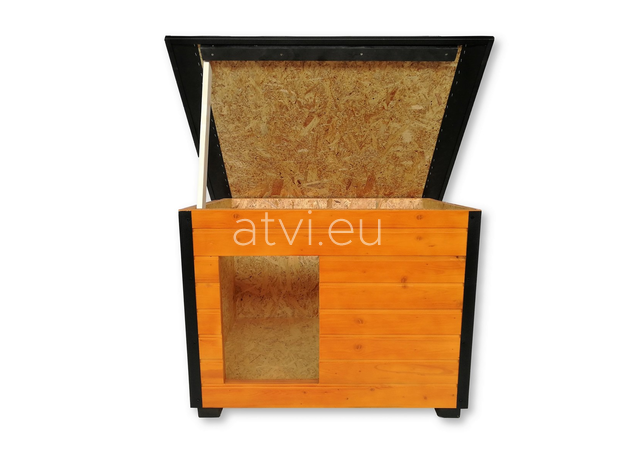 AtviPets Insulated Dog House With Folding Roof Bituminous Cardboard Size 3, image , 8 image