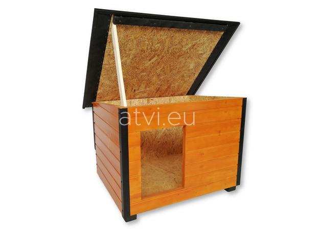 AtviPets Insulated Dog House With Folding Roof Bituminous Cardboard Size 3, image , 9 image