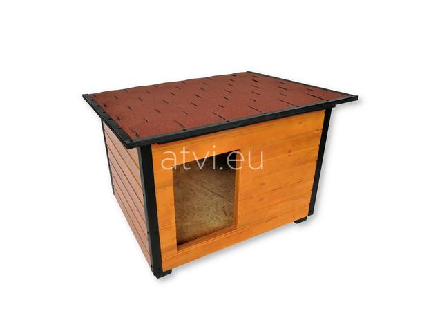 AtviPets Insulated Dog House With Folding Roof Bituminous Shingle Size 3, image , 3 image