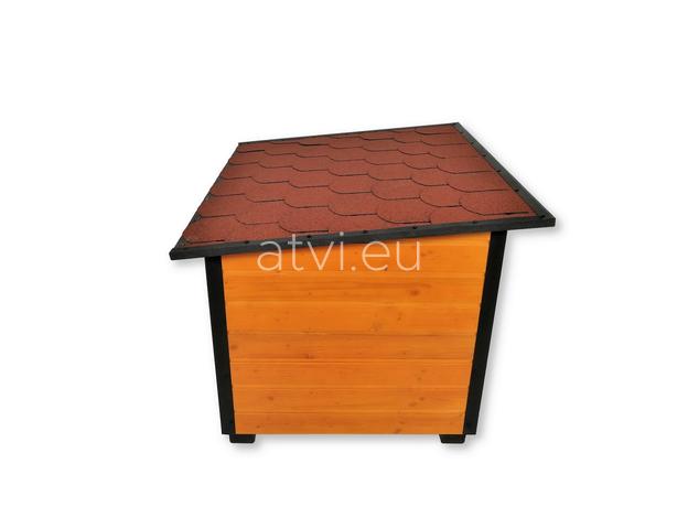AtviPets Insulated Dog House With Folding Roof Bituminous Shingle Size 3, image , 4 image