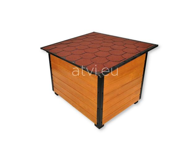 AtviPets Insulated Dog House With Folding Roof Bituminous Shingle Size 3, image , 5 image