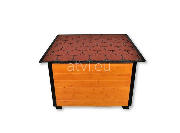 AtviPets Insulated Dog House With Folding Roof Bituminous Shingle Size 3, image , 6 image