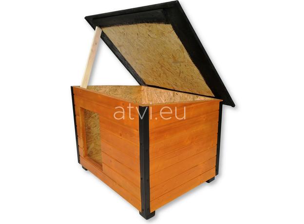 AtviPets Insulated Dog House With Folding Roof Bituminous Shingle Size 3, image , 7 image