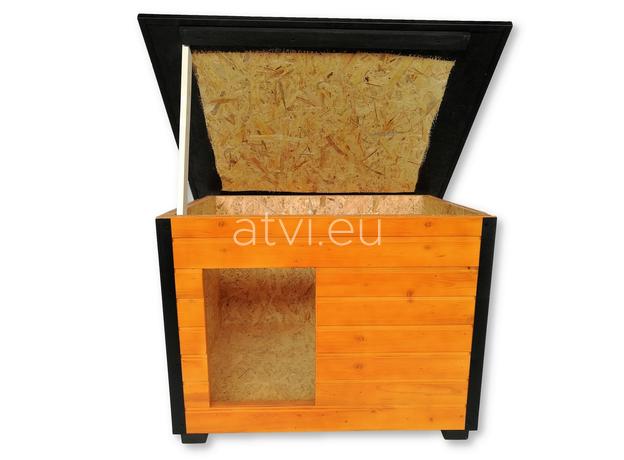 AtviPets Insulated Dog House With Folding Roof Bituminous Shingle Size 3, image , 8 image