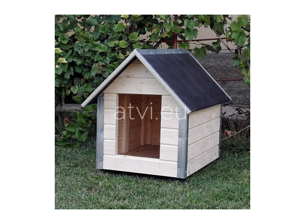 AtviPets Dog House With Sharped Roof Bituminous Cardboard Size 2, image , 8 image