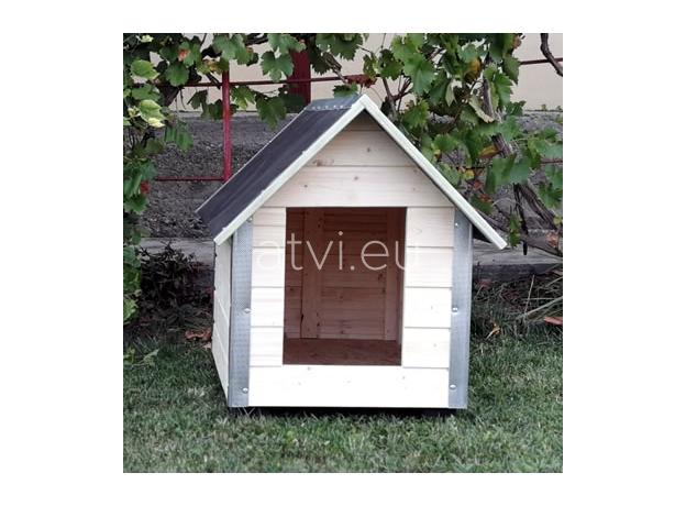 AtviPets Dog House With Sharped Roof Bituminous Cardboard Size 2, image , 9 image