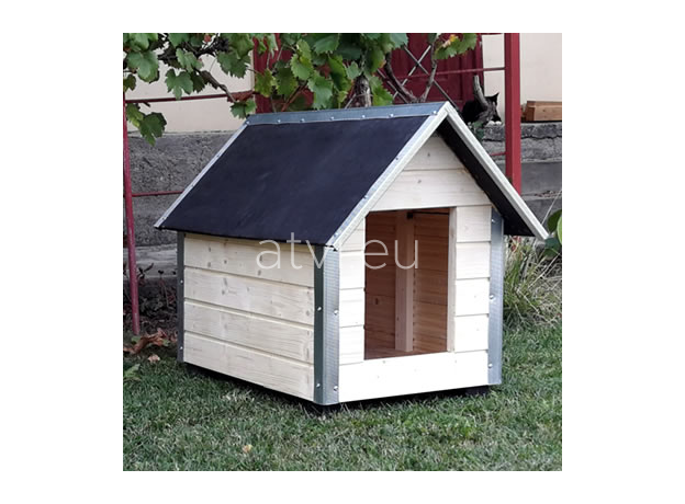 AtviPets Dog House With Sharped Roof Bituminous Cardboard Size 3, image , 10 image