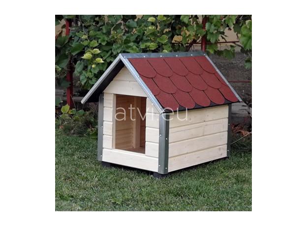 AtviPets Dog House With Sharped Roof Bituminous Shingle Size 4, image , 7 image