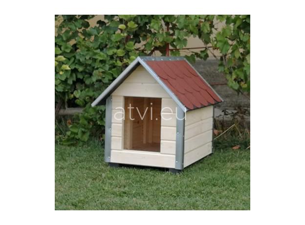 AtviPets Dog House With Sharped Roof Bituminous Shingle Size 3, image , 8 image