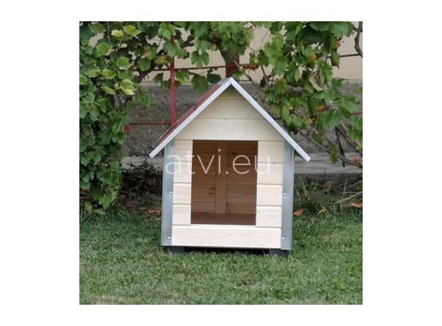 AtviPets Dog House With Sharped Roof Bituminous Shingle Size 4, image , 9 image