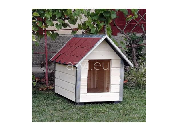 AtviPets Dog House With Sharped Roof Bituminous Shingle Size 3, image , 10 image