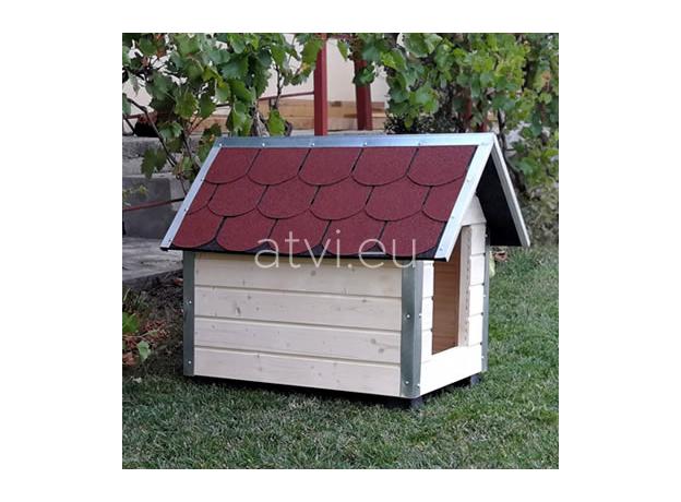 AtviPets Dog House With Sharped Roof Bituminous Shingle Size 4, image , 11 image