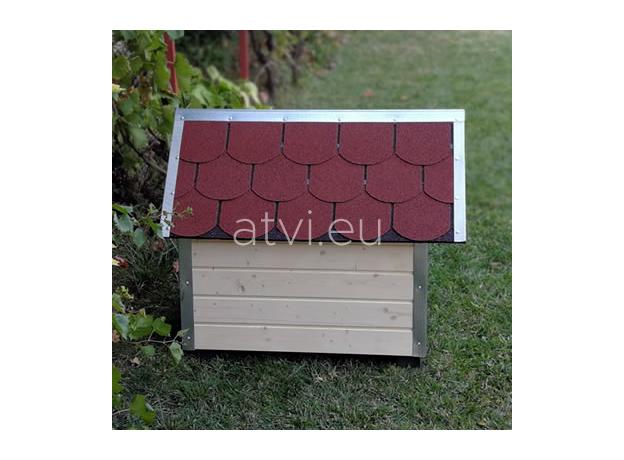 AtviPets Dog House With Sharped Roof Bituminous Shingle Size 4, image , 12 image