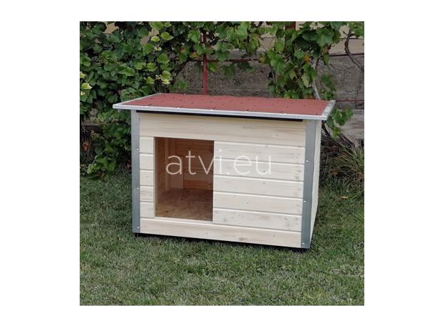 AtviPets Dog House With Folding Roof Bituminous Shingle Size 2, image , 11 image