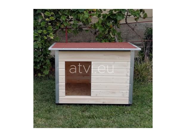 AtviPets Dog House With Folding Roof Bituminous Shingle Size 2, image , 12 image