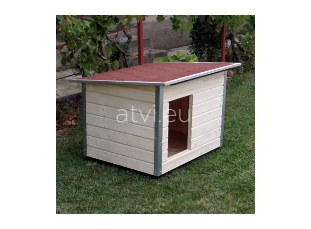 AtviPets Dog House With Folding Roof Bituminous Shingle Size 2, image , 13 image
