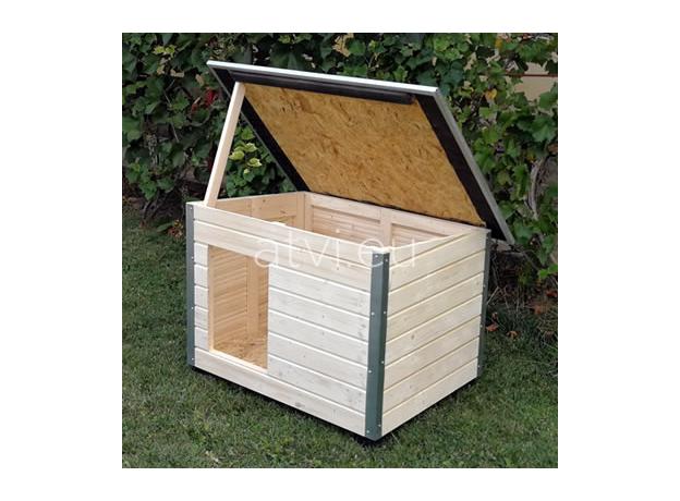 AtviPets Dog House With Folding Roof Bituminous Shingle Size 2, image , 16 image