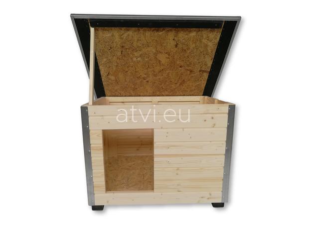 AtviPets Cusca Caine cu Acoperis Rabatabil Carton Bituminat Marime 3, imagine _ab__is.image_number.default