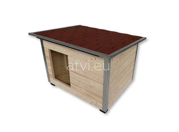 AtviPets Dog House With Folding Roof Bituminous Shingle Size 2, image