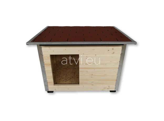 AtviPets Dog House With Folding Roof Bituminous Shingle Size 2, image , 2 image