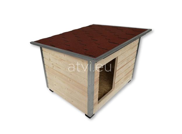 AtviPets Dog House With Folding Roof Bituminous Shingle Size 2, image , 3 image