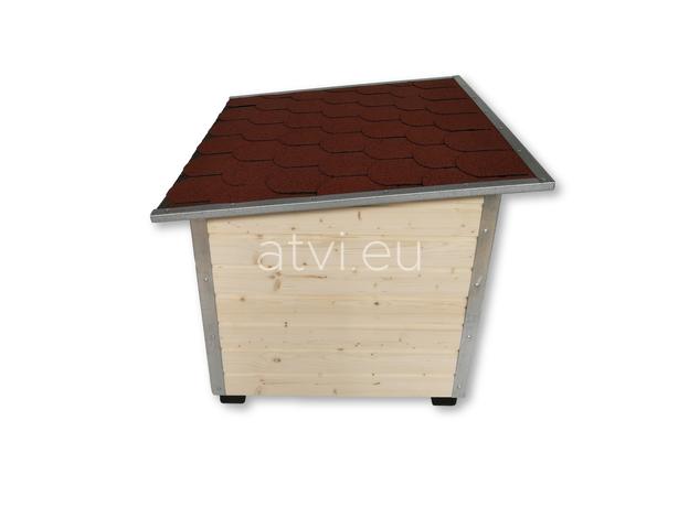 AtviPets Dog House With Folding Roof Bituminous Shingle Size 2, image , 4 image