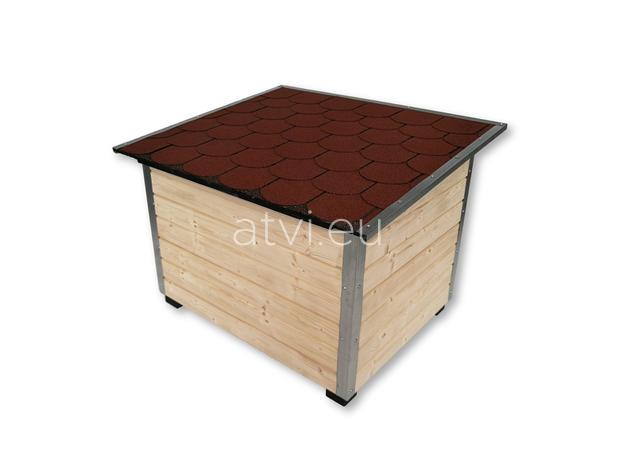 AtviPets Dog House With Folding Roof Bituminous Shingle Size 3, image , 5 image