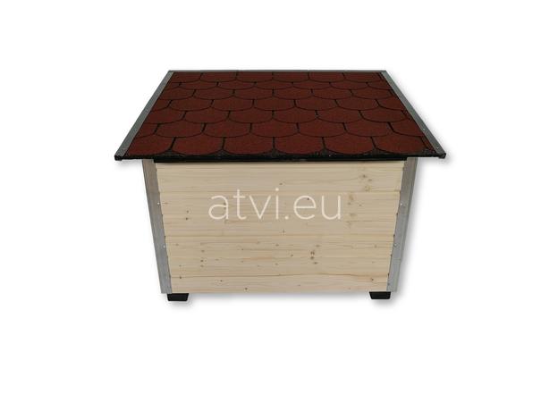 AtviPets Dog House With Folding Roof Bituminous Shingle Size 3, image , 6 image