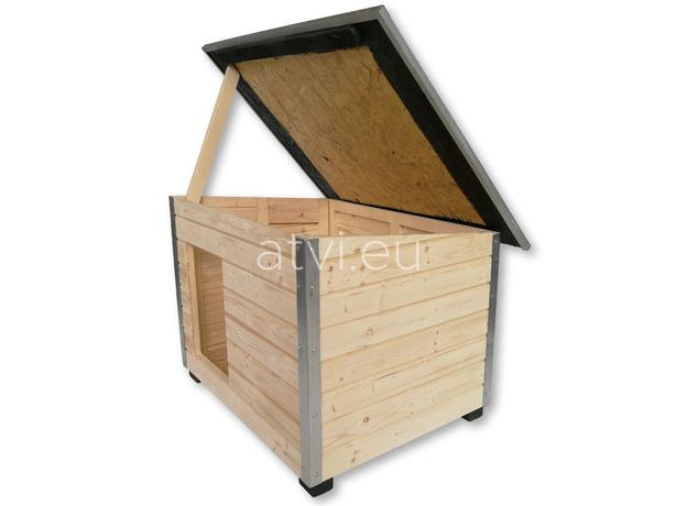 AtviPets Dog House With Folding Roof Bituminous Shingle Size 3, image , 7 image