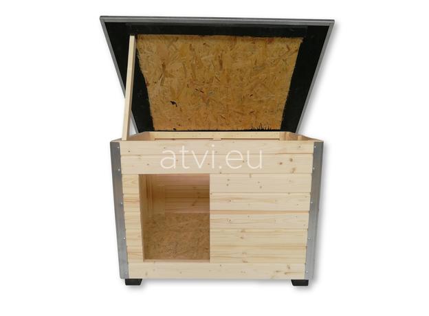AtviPets Dog House With Folding Roof Bituminous Shingle Size 3, image , 8 image