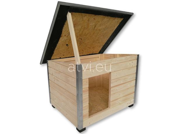AtviPets Dog House With Folding Roof Bituminous Shingle Size 3, image , 9 image