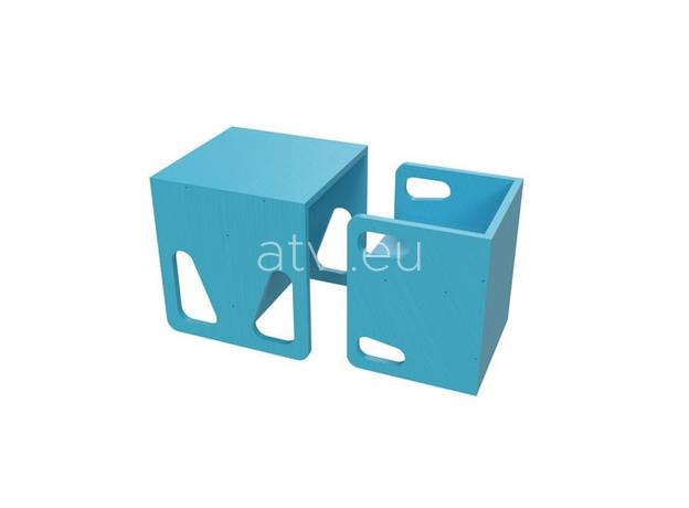 AtviKids Cubix Montessori Chair Size 1 Blue, image , 4 image