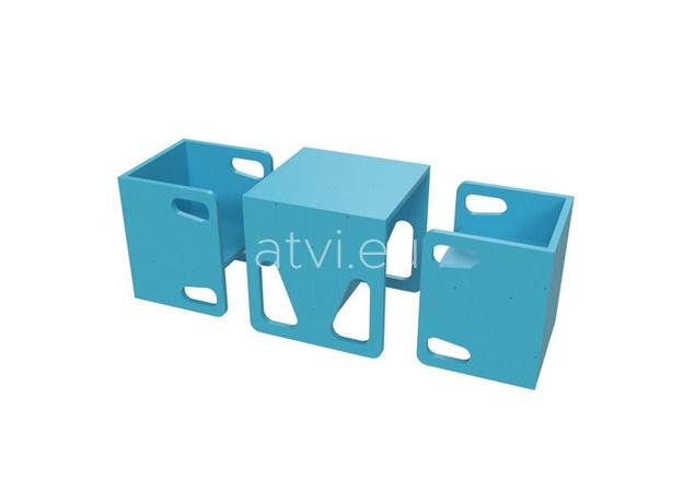 AtviKids Cubix Montessori Chair Size 2 Blue, image , 6 image