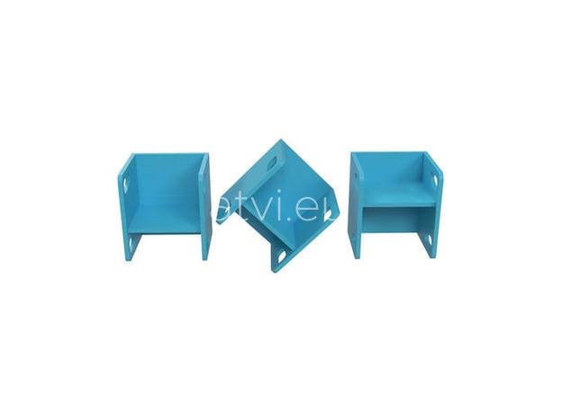 AtviKids Cubix Montessori Chair Size 1 Blue, image