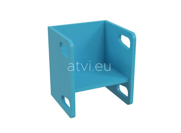 AtviKids Cubix Montessori Chair Size 1 Blue, image , 3 image