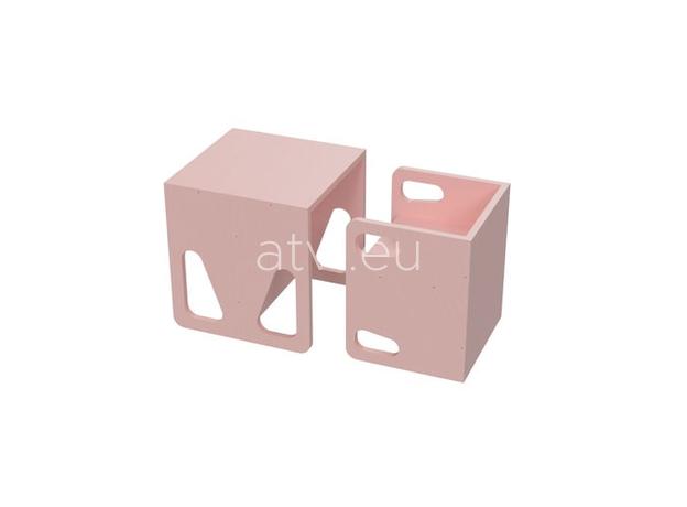AtviKids Cubix Montessori Chair Size 2 Pink, image , 5 image