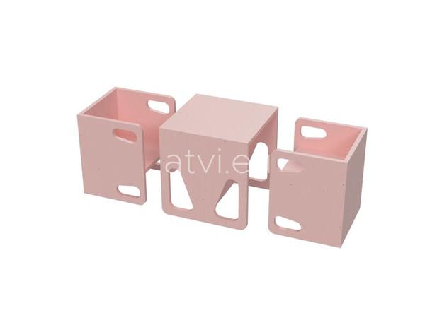 AtviKids Cubix Scaun Montessori Marime 1 Roz, imagine _ab__is.image_number.default