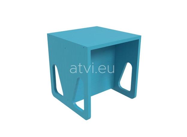 AtviKids Cubix Montessori Chair Size 2 Blue, image , 2 image