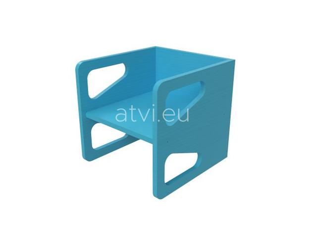 AtviKids Cubix Montessori Chair Size 2 Blue, image , 3 image