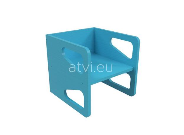 AtviKids Cubix Montessori Chair Size 2 Blue, image , 4 image