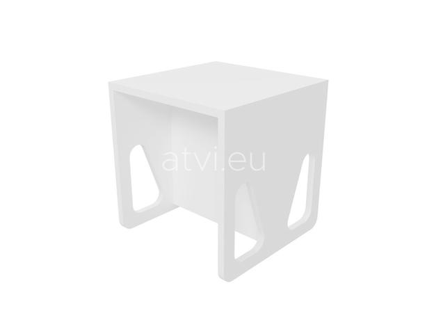 AtviKids Cubix Scaun Montessori Marime 2 Alb, imagine