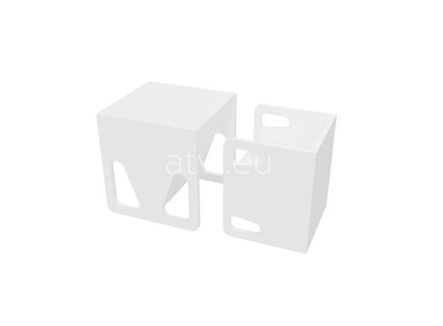 AtviKids Cubix Montessori Chair Size 1 White, image , 4 image