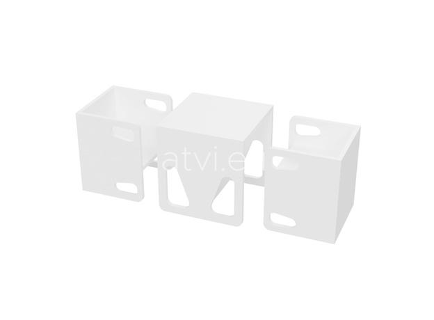 AtviKids Cubix Montessori Chair Size 1 White, image , 5 image
