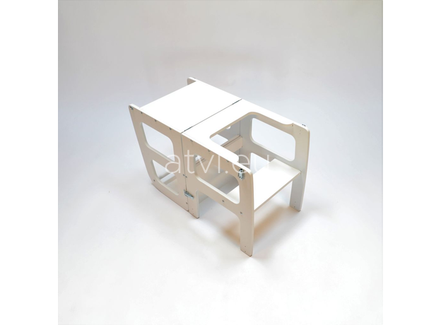 AtviKids Turn de Invatare / Learning Tower Multifunctional (4 in 1) Alb, imagine _ab__is.image_number.default