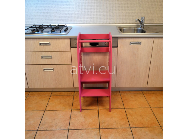 AtviKids Learning Tower Pink, image , 6 image