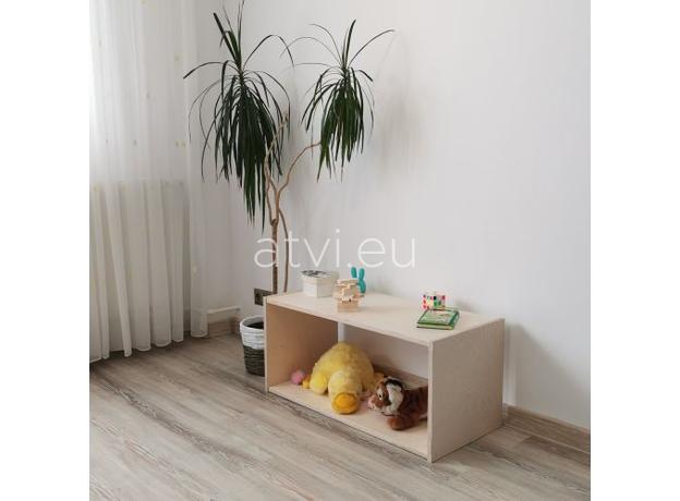 AtviKids Low Toy Shelf   Clear Coat or Transparent   Short Version, image