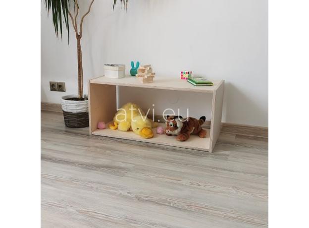 AtviKids Low Toy Shelf   Clear Coat or Transparent   Short Version, image , 2 image